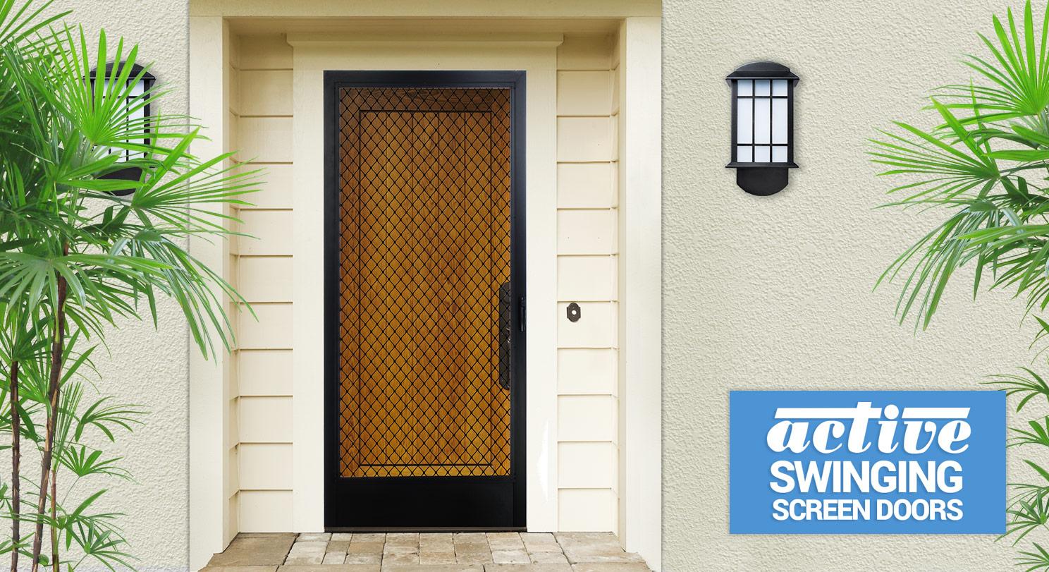 screen door repair swinging screen doors